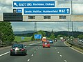 Approaching junction 20 on the M62 eastbound - geograph.org.uk - 2405764.jpg