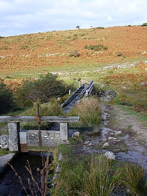 Devonport Leat - Aqueduct on the leat near Burrator Reservoir over the River Meavy