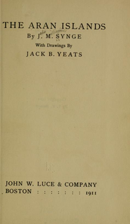 <i>The Aran Islands</i> (book) Early 20th century collection of journal entries about the Aran Islands in Ireland
