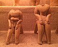 Archaeological Museum Volos Neolithic male clay figurines B12+13.jpg