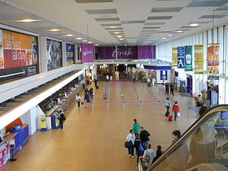 Glasgow Prestwick Airport - Check-in area at Prestwick Airport