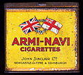 Armi-Navi cigarettes tin, John Sinclair Ltd, Newcastle-on-Tyne & Edinburgh.JPG