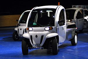 Plug-in electric vehicle - U.S. Army GEM e2 neighborhood electric vehicle.