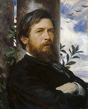 Arnold Böcklin - Self-portrait Oil on canvas (1872)