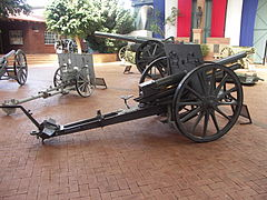 An Austria-Hungary 8 cm FK Model 5/8 field gun