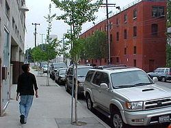 Street level in the Arts District