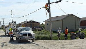 Attawapiskat First Nation - Image: Attawapiskat Fibre Optics July 2009