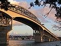 Auckland Harbour Bridge With Flag.jpg