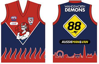 Clapham Demons - Jumper design for the Wandsworth Demons.
