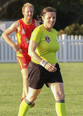 Glossary of Australian rules football - Field umpire