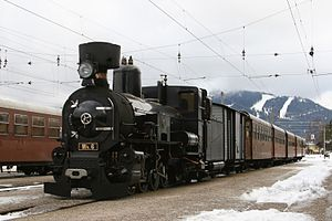 Engerth locomotive - Engerth locomotive Mh6 on the Mariazellerbahn