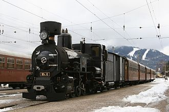 Mariazell Railway - Mariazellerbahn Mh.6, now operating on the Mariazellerbahn as a museum locomotive with tourist train