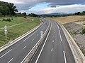 Autoroute A406 vue depuis Pont Route D1079 Crottet 6.jpg