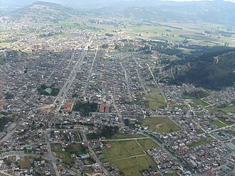 Duitama - The city of Duitama built on the former lake, the surrounding hills were populated by the Muisca