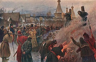 "Death by burning - The ""baptism by fire"" of Old Believer leader Avvakum in 1682"