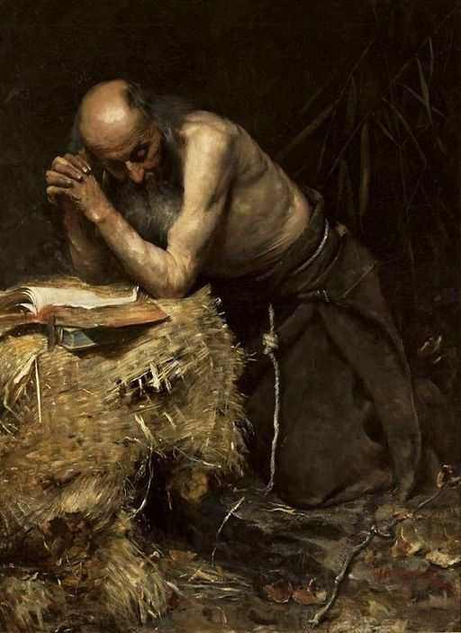 The Anchorite by Teodor Axentowicz