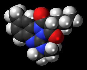 Azapropazone - Image: Azapropazone 3D spacefill