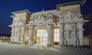 Robbinsville Township, New Jersey - Swaminarayanan Akshardham in Robbinsville, the world's largest Hindu temple