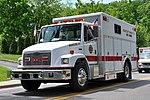 A white fire rescue truck