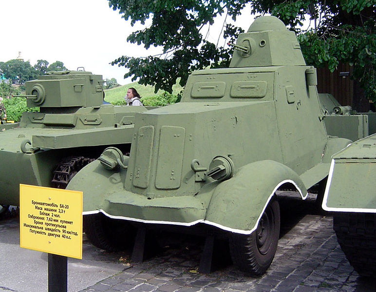 BA-20 on display at the Museum of the Great Patriotic War, Kiev, Ukraine