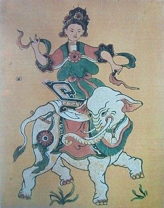 Lady Triệu - Folk art depiction of Lady Trieu
