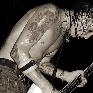 Backyard Babies - Guitarist Dregen performing live.