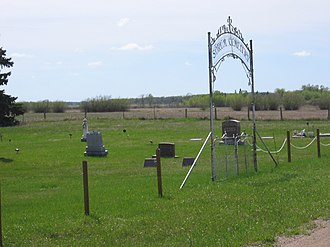 Badger Township, Polk County, Minnesota - Sorum Cemetery Gate 2007