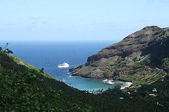 Hane, Marquesas Islands - Image: Baie de Hane Aranui