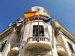 Banderas en el Palacio de la Asamblea de Ceuta.jpg