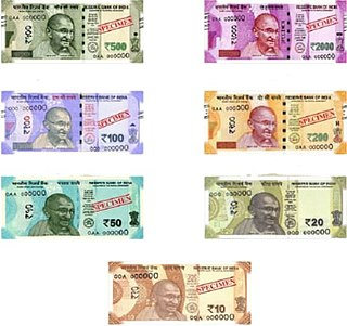 Indian rupee Official currency of India