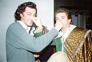 Luca Barbareschi - Luca Barbareschi with Ezio Greggio