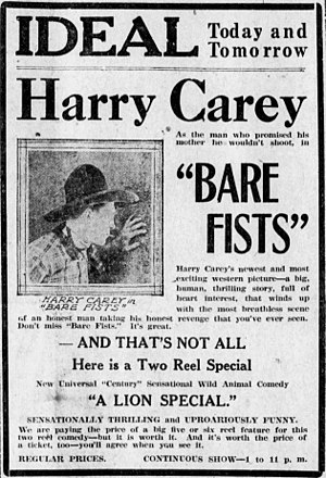Bare Fists - Newspaper advertisement