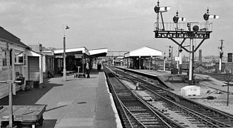 Barry railway station - The station in 1962