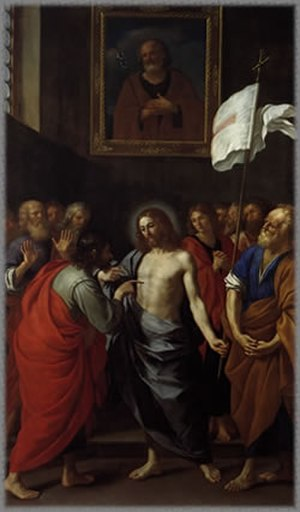 Bartolomeo Gennari - The Incredulity of Saint Thomas by Bartolomeo Gennari, Pinacoteca Comunale (Cento), 1644