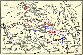 Battle of Fère-Champenoise - Battle of Fère-Champenoise showing the strategic situation on 25 March 1814.