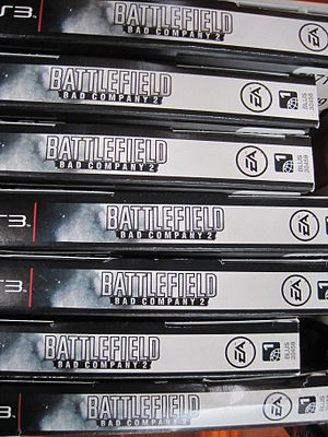 Battlefield - Bad Company 2 for PS3 boxes at Costco, SSF ECR.JPG