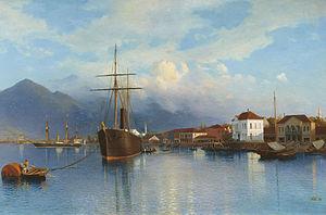 Batumi - Port of Batumi in 1881