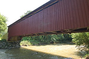 Baumgardener's Covered Bridge - Image: Baumgardener's Covered Bridge Side View 3008px