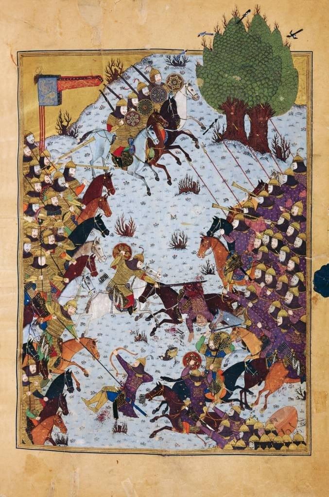 Baysonghori Shahnameh battle-scene