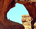 Be Still, In Double Arch, Arches NP, UT 8-12 (27710317944).jpg