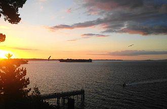 Beachlands, New Zealand - View from Beachlands overlooking Motukaraka Island and the Hauraki Gulf