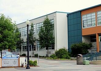 Beaverton High School - Image: Beaverton High School entrance