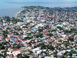 Luchtfoto van Belize City