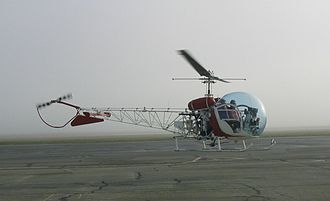 Tail rotor - Many tail rotors are protected from ground strikes by a skid plate or by a steel guard, such as on this Bell 47.