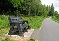 Bench on the Lagan towpath - geograph.org.uk - 1390692.jpg