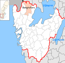 Bengtsfors Municipality in Västra Götaland County.png