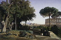 Benouville Colosseum Viewed from the Palatine.JPG