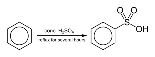 Sulfonation of Benzene to benzene sulfonic acid