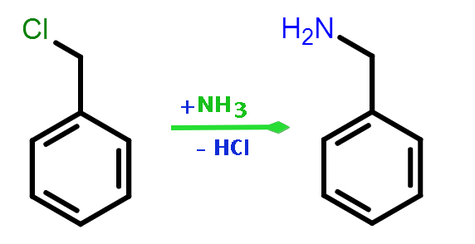 Benzylamine synthesis from benzyl chloride.png
