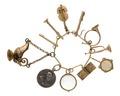 Berlocker, elva stycken, 1800-tal - Hallwylska museet - 110506.tif
